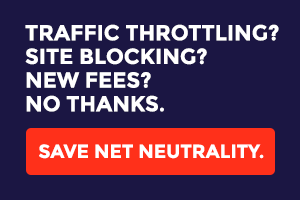 Net neutrality campaign